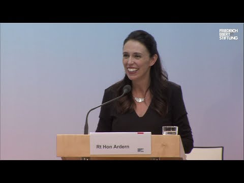 "Jacinda Ardern live in der FES Berlin: ""Progressive and Inclusive Growth: Sharing the Benefits"""