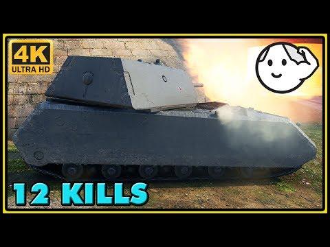 Maus - 12 Kills - 9,9K Damage - 1 VS 8 - World of Tanks Gameplay