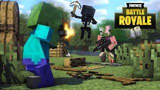 Monster School : FORTNITE WAR CHALLENGE - Minecraft Animation