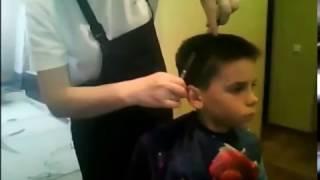 Спортивная стрижка ножницами для мальчиков