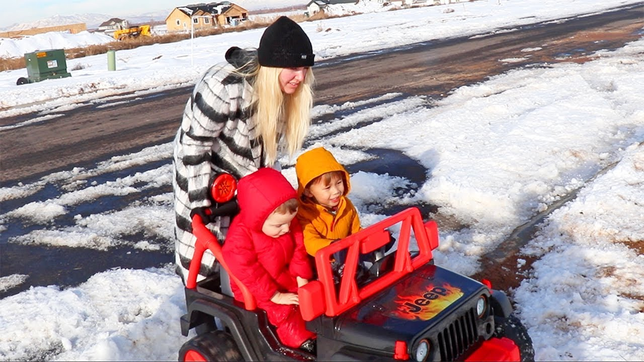 best-friends-launch-off-snow-ramp-in-toy-jeep