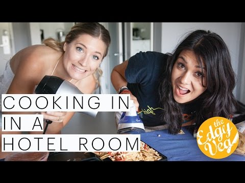Hotel Secrets | MacGyver Style Quesadillas and more made in a Hotel Room with Nikki Limo | Edgy Veg