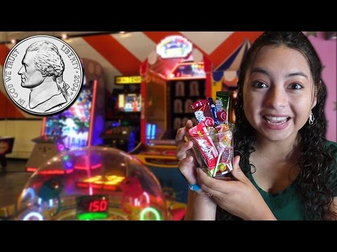 A hand full of nickels = tons of fun at Nickel Mania Arcade!!