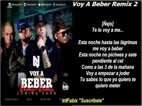 nicky jam voy a beber remix lyrics