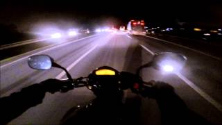 Honda CB600F Hornet Black - Monster - GoPro Hero3+