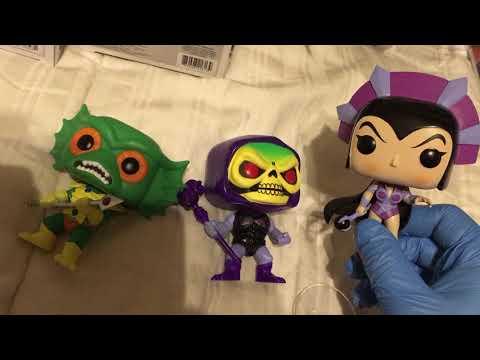 MOTU Monday! Funko Pop Villains! Skeletor, Beast Man, MerMan, Trap Jaw, and Evil-Lyn!