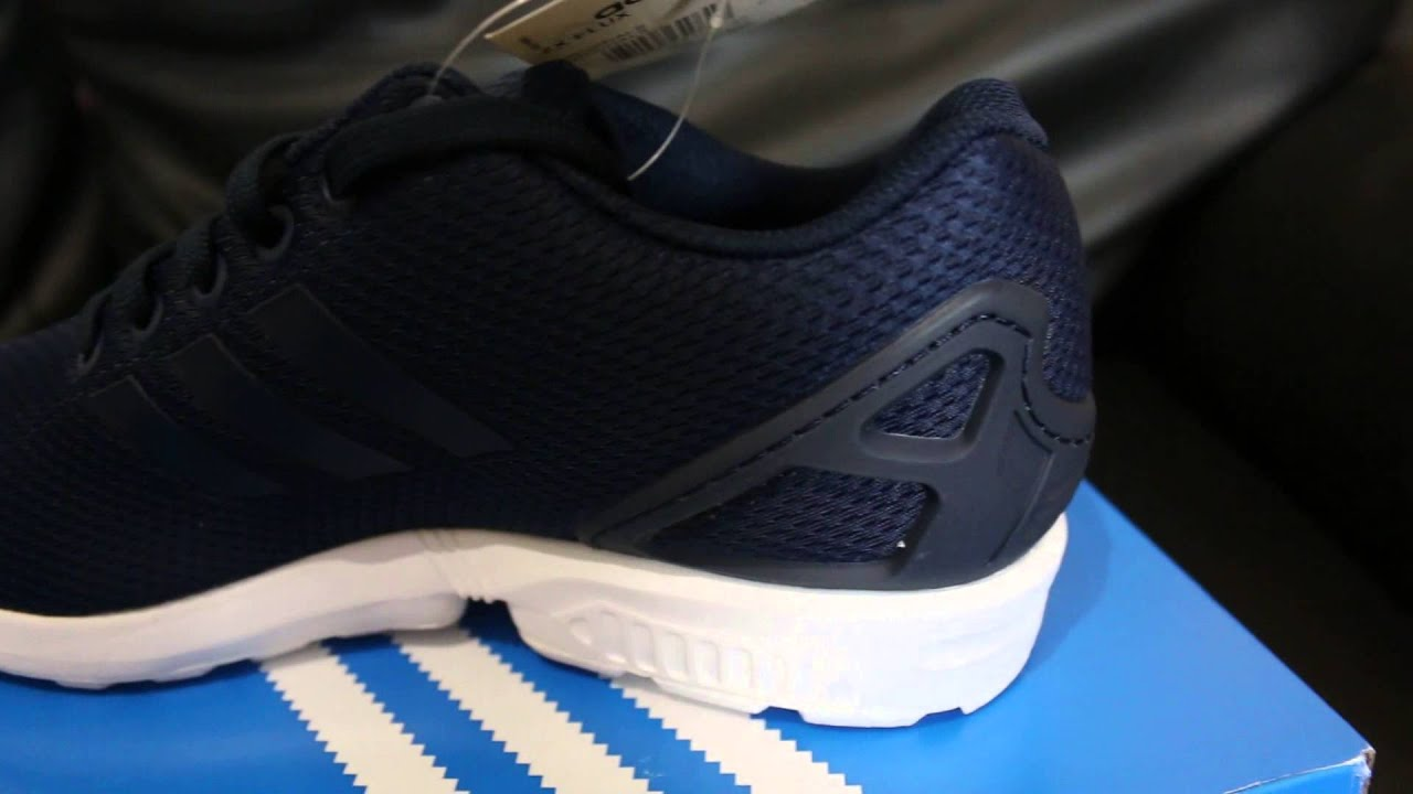 198c793ffe1dd Adidas ZX Flux Navy Trainers Unboxing October 2015 - YouTube