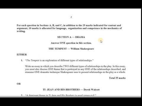 CSEC English B Paper 2- Section A 2018 Exam Format Review - YouTube