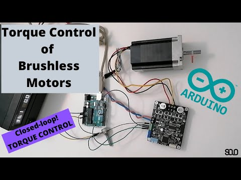Brushless Motors Torque Control Using ARDUINO And SOLO (ESC - BLDC - PMSM) In Closed-loop Mode