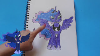 How to Draw My Little Pony PRINCESS LUNA Character Step By Step Easy Equestria MLP | Toy Caboodle