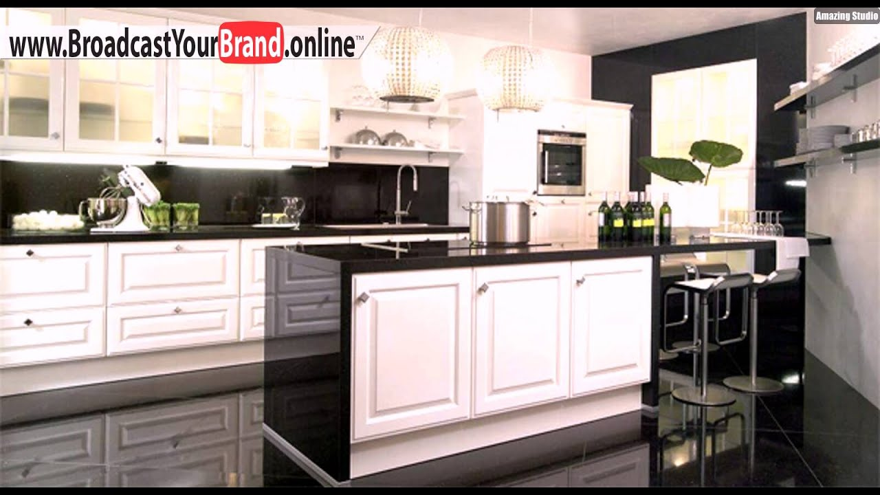 sch ne k cheninsel beleuchtung idee youtube. Black Bedroom Furniture Sets. Home Design Ideas