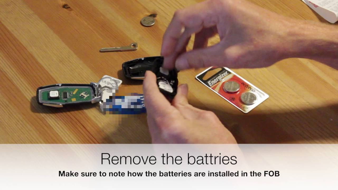 ford intelligent access key fob battery replacement youtube