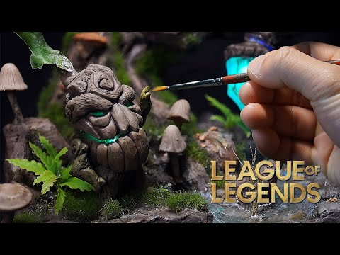 [eng]-sculpting-lol-maokai-saplings-statue&diorama-with-cement