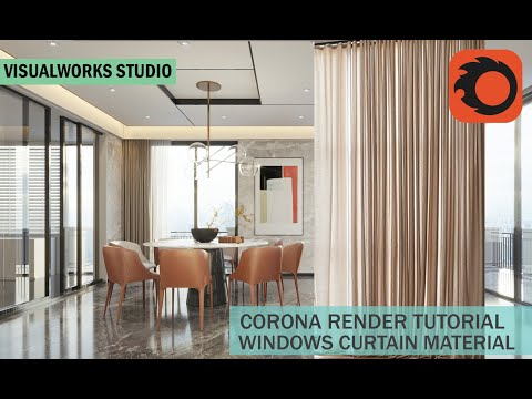 CREATE CORONA CURTAIN FABRIC MATERIAL - CORONA RENDER TUTORIAL -