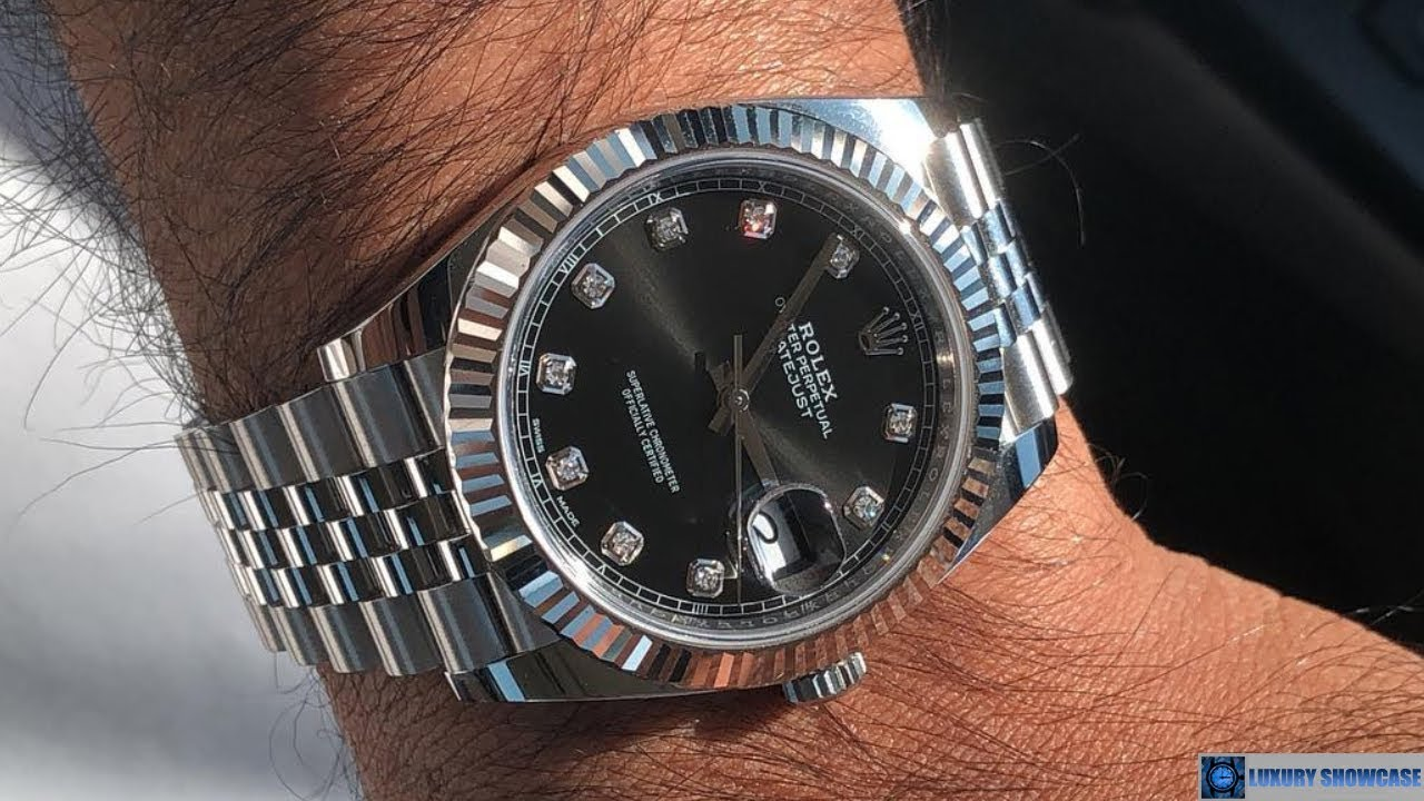 Rolex Datejust 126334 Black Diamond dial 41 Jubilee Steel \u0026 White gold