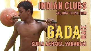 Indian Clubs   Suria Akhara Gada Mace Training