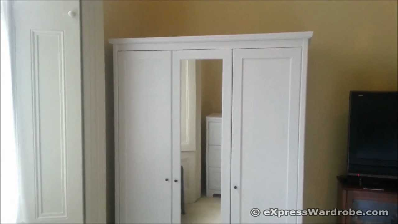 Ikea Wandregal Hochglanz Weiß ~ IKEA Apelund 3 door wardrobe Design  YouTube