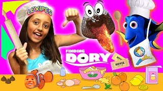 FINDING DORY Likes Our Molten Lava Dessert! + Movie Day! FUNnel Vision Cooking Recipe ≖ʖ≖