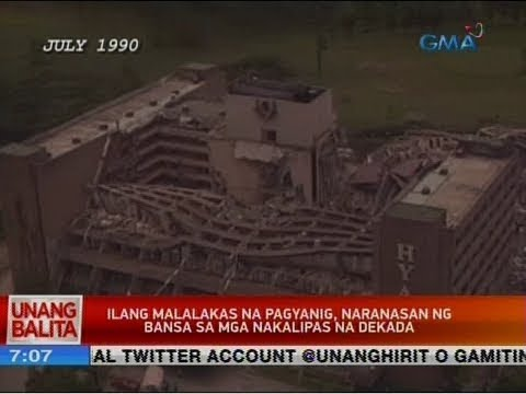 UB: Ilang malalakas na pagyanig, naranasan ng bansa sa mga nakalipas na dekada