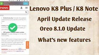 k8 note oreo 8 0 update VIZION LV