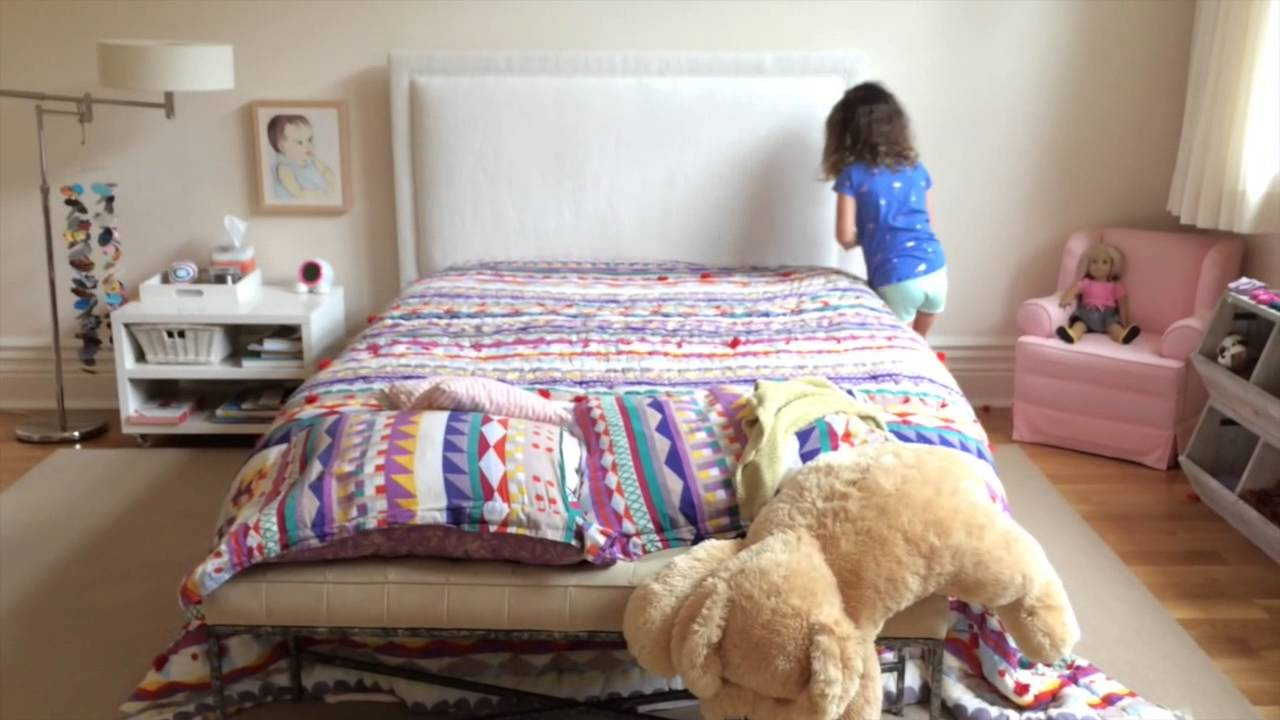 making your bed with the kid who can chore charts! - youtube