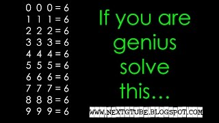 Ultimate math puzzle - Solve this Put any mathematic sign 2 2 2=6 3 3 3=6 4 4 4=6...