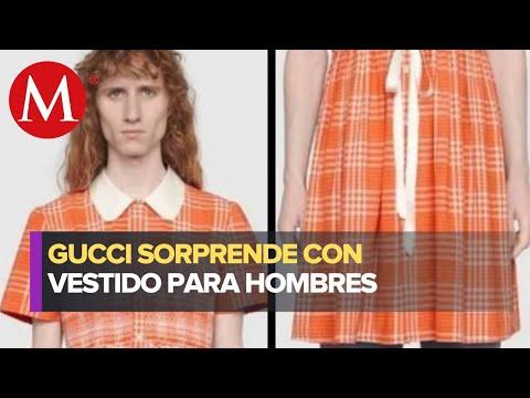 'Gucci' lanza vestido para hombres en su colección Otoño-Invierno