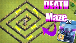 YOU WON'T SURVIVE!!😀PEKKA DEATH MAZE🔸Clash of clans