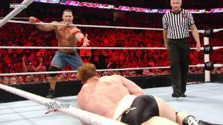 Raw - John Cena & Sheamus vs. Christian & Mark Henry