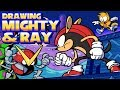 Sonic Mania Plus Mighty and Ray in Mirage Saloon Speedpaint