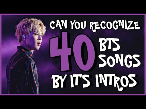 Can You Recognize 40 BTS Songs By It's Intros?