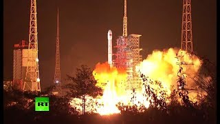 RAW: China launches lunar rover on historic mission to explore dark side of the moon
