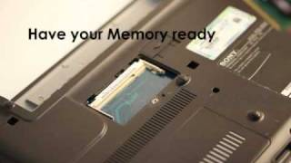 Memory Upgrade for VAIO - Step by Step
