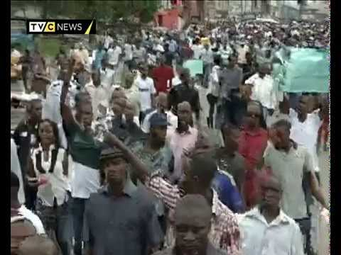 Rivers State Voters protests against Poll irregularities