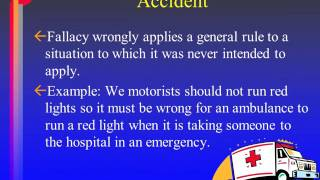 Informal Fallacies: Ad Hominem Tu Quoque, Accident, Straw Man 4 of 9