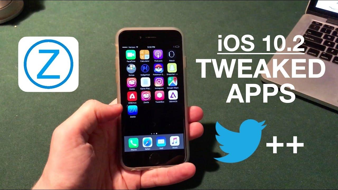 Install Jailbreak Apps Without Jailbreaking iOS 10 2: Tweaked Apps!