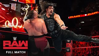 FULL MATCH - Roman Reigns vs. Samoa Joe – Intercontinental Title Match: Raw, January 1, 2018