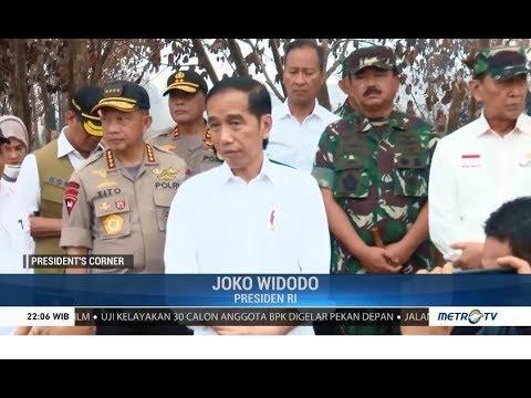 Jokowi Tinjau Langsung Lokasi Karhutla di Riau
