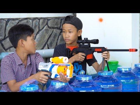 Đồ Chơi Bắn Súng Nerf Cuộc Chiến Siêu Súng Ngắm:  Nerf War Sniper Gun Battle Shot