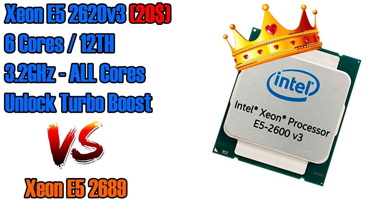 Новый лидер среди бюджетных CPU 2020! Анлок турбо буста E5 2620v3, сравнение с E5 2689