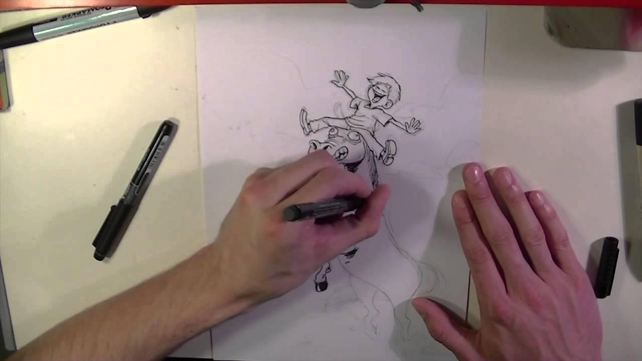 Comment bien dessiner une belle scène d'amitié... - YouTube
