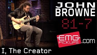 "John Browne of Monuments performs ""I, The Creator"" on EMGtv"