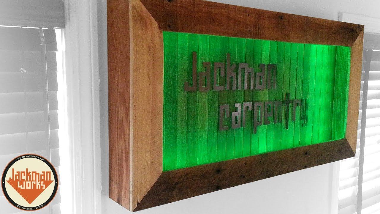 LED Lighted Logo Shadow Box - YouTube
