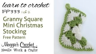 vuclip Crochet How to Free Pattern - Granny Christmas Stocking Part 1 of 2 Right Handed
