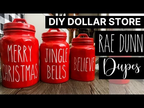 Dollar Store Rae Dunn Canister Dupe | Fast Fridays! Dollar General Supplies