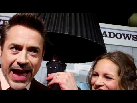 "Robert Downey Jr. & Susan Downey at the ""Sherlock Holmes: A Game of Shadows"" premiere"