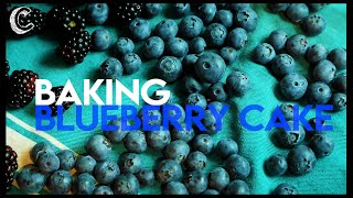 Baking a Blueberry Cake
