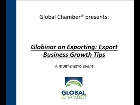 Globinar on Exporting: Export Business Growth Tips
