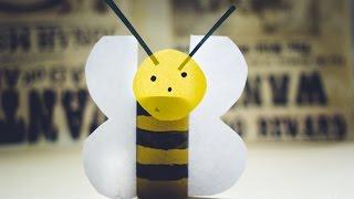 Как сделать пчелу: поделки для детей из туалетной бумаги