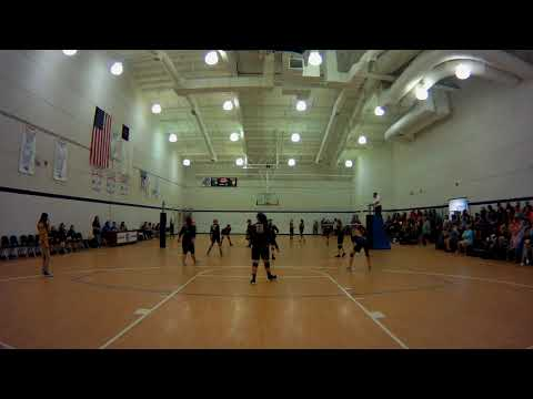 SECC girls jv volleyball playoff Northside Christian Academy vs Old Plank Christian Academy set 1